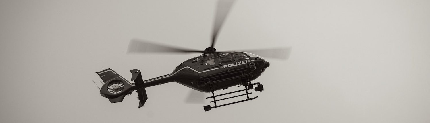 Helicopter in der Luft